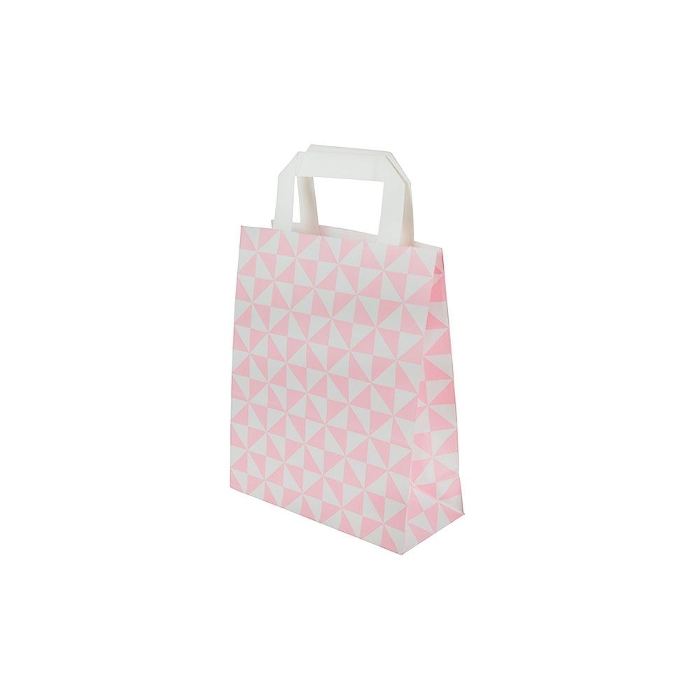 Kraftpapier-Tragetaschen S, 18 x 8 x 22 cm, Trigon rosa