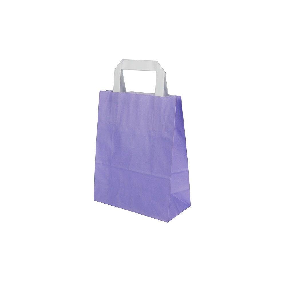 Kraftpapier-Tragetaschen S, 18 x 8 x 22 cm, violett
