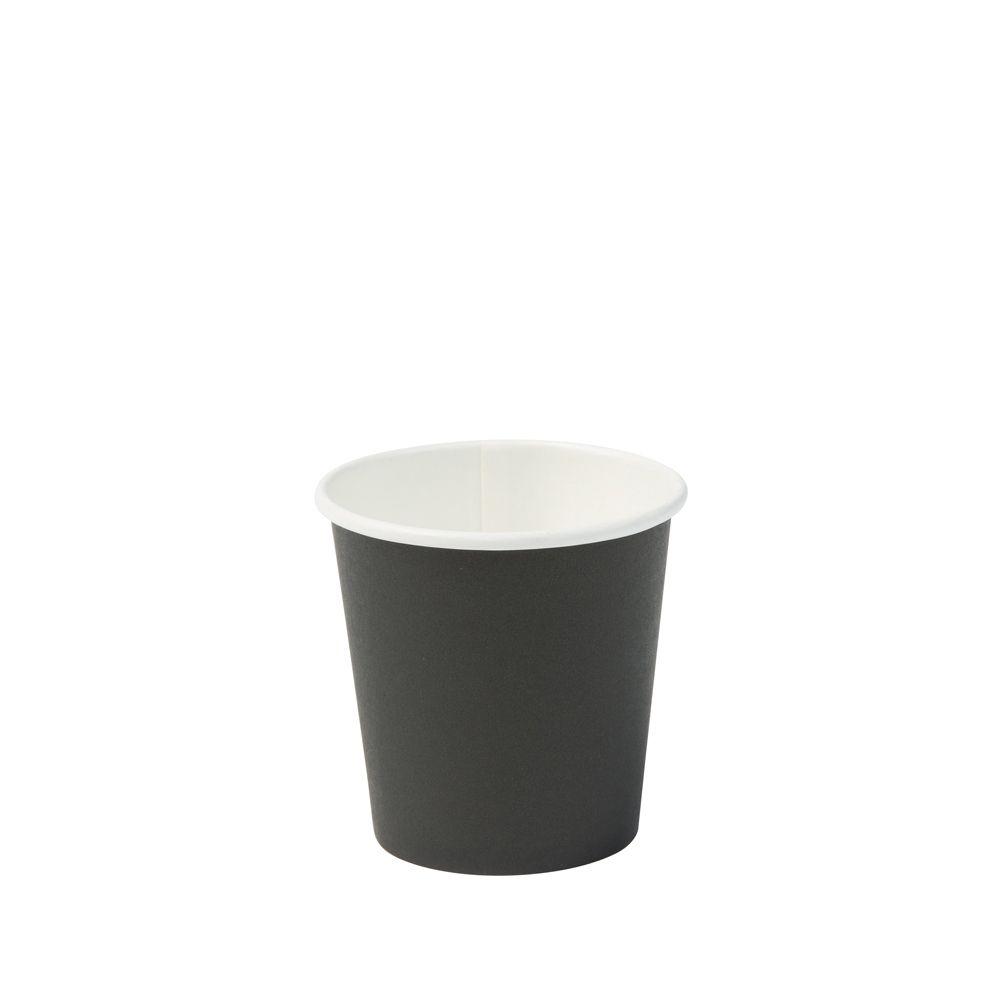 Pappbecher 100 ml / 4 oz, Ø 62 mm, schwarz