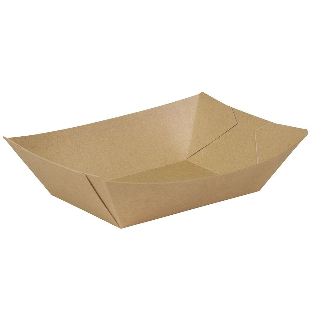 Premium-Karton-Snack-Schalen 800 ml, braun, bio-beschichtet